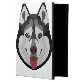 Funda Para iPad Air 2 El ilustracion persigue el husky siberiano de la