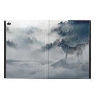 Funda Para iPad Air 2 Lobos en paisaje del invierno Nevado