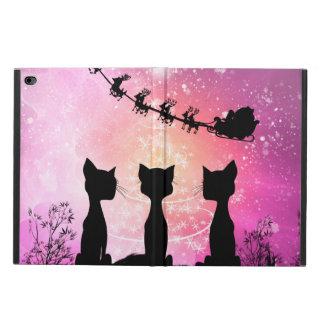 Funda Para iPad Air 2 Los gatos miran al cielo a Papá Noel