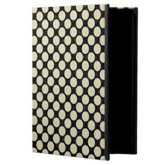 FUNDA PARA iPad AIR 2 MÁRMOL NEGRO CIRCLES1 Y LINO BEIGE (R)