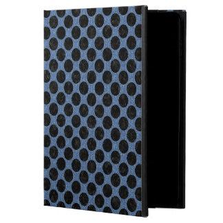FUNDA PARA iPad AIR 2 MÁRMOL NEGRO CIRCLES2 Y DRIL DE ALGODÓN AZUL (R)