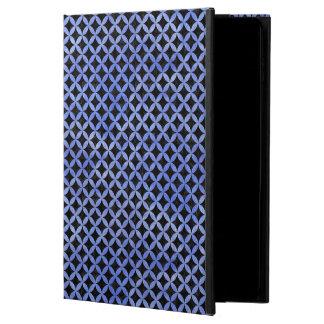 FUNDA PARA iPad AIR 2 MÁRMOL NEGRO CIRCLES3 Y ACUARELA AZUL