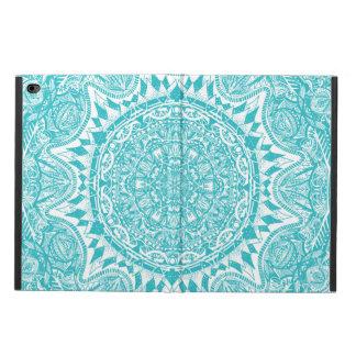 Funda Para iPad Air 2 Modelo azul claro de la mandala
