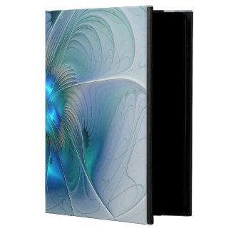 Funda Para iPad Air 2 Ovaciones de pie, fractal azul de la turquesa del