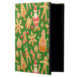 Funda Para iPad Air 2 Pan de jengibre festivo de Santa y del muñeco de