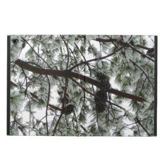 Funda Para iPad Air 2 Por debajo la foto nevada del invierno del árbol