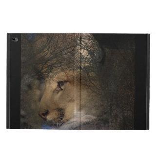 Funda Para iPad Air 2 Puma de la fauna de la silueta del árbol del otoño