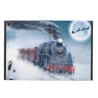 Funda Para iPad Air 2 Tren de medianoche del navidad con el chica y