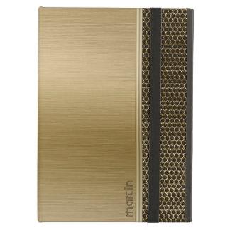 Funda Para iPad Air Aluminio cepillado oro con el puré metálico