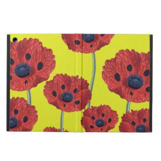 Funda Para iPad Air Amapolas rojas en amarillo