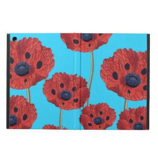 Funda Para iPad Air Amapolas rojas en azul