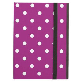 Funda Para iPad Air Arte púrpura y blanco de los lunares, caja del
