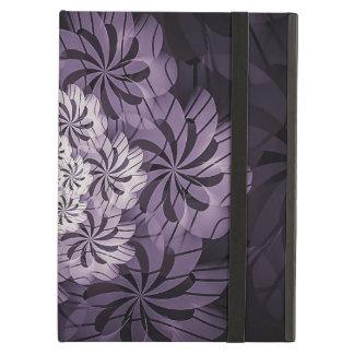 Funda Para iPad Air Arte rayado púrpura floral del fractal, caja del