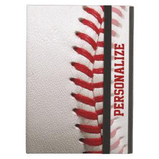Funda Para iPad Air Béisbol con la costura del rojo y el nombre