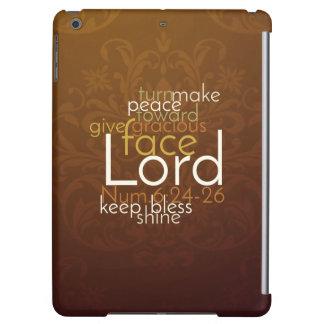Funda Para iPad Air Bendición sacerdotal en el damasco de cobre de