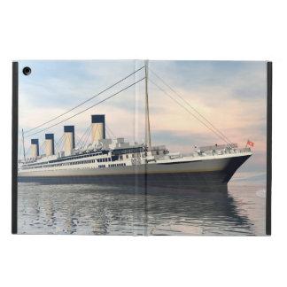 Funda Para iPad Air boat_titanic_close_water_waves_sunset_pink_standar