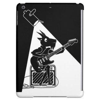 Funda Para iPad Air Cabra blanco y negro que toca una guitarra