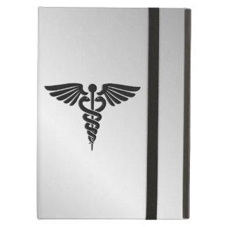 Funda Para iPad Air Caduceo médico de plata