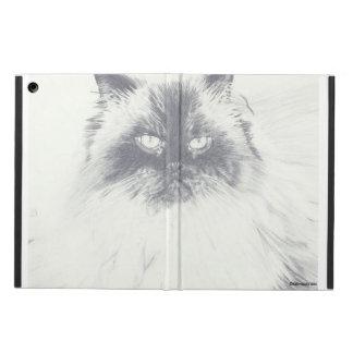 Funda Para iPad Air Caja dibujada mano del iPad del gato
