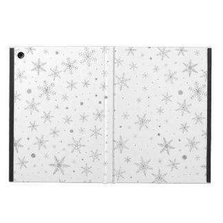 Funda Para iPad Air Copo de nieve del centelleo - gris y Blanco de
