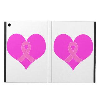 Funda Para iPad Air Diseño de la caridad del cáncer del corazón y de