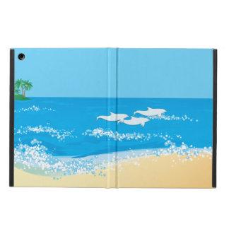 Funda Para iPad Air Diseño escénico del delfín de la playa tropical