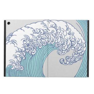 Funda Para iPad Air Diseño japonés de la onda de la impresión de las
