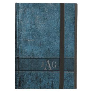Funda Para iPad Air Diseño rústico del libro azul del Grunge