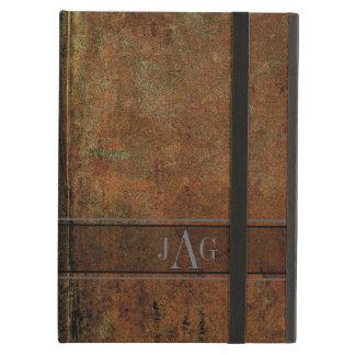 Funda Para iPad Air Diseño rústico del libro de Brown del Grunge