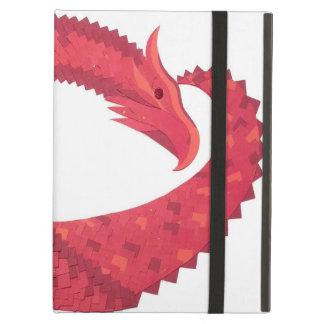 Funda Para iPad Air Dragón rojo del corazón en blanco