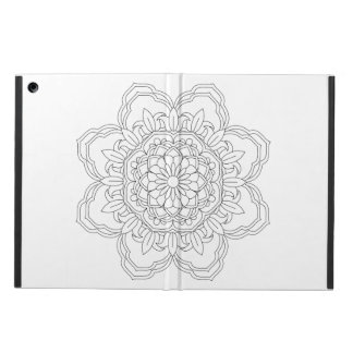 Funda Para iPad Air ejemplo sagrado de la geometría de la mandala del
