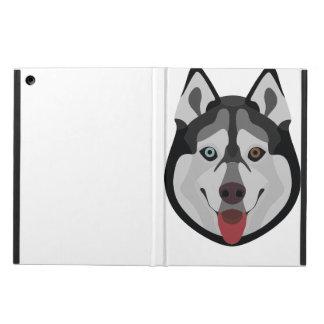 Funda Para iPad Air El ilustracion persigue el husky siberiano de la