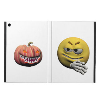 Funda Para iPad Air Emoticon amarillo o smiley de Halloween