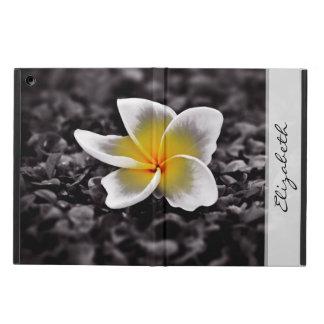 Funda Para iPad Air Flor de Hawaii del Frangipani del Plumeria
