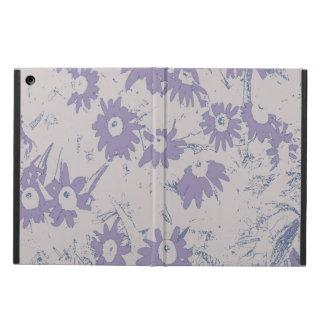 Funda Para iPad Air Flores púrpuras del cono con el fondo gris
