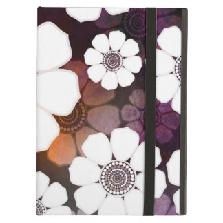 Funda Para iPad Air Flower power púrpura enrrollado