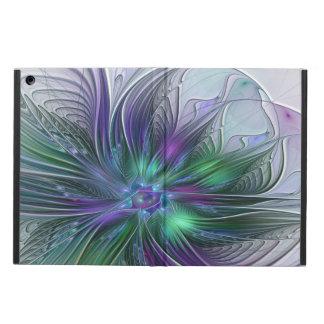 Funda Para iPad Air Fractal moderno del arte abstracto de la flor