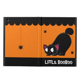 Funda Para iPad Air Gato negro y araña de Halloween