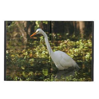 Funda Para iPad Air Gran Egret que vadea en los marismas