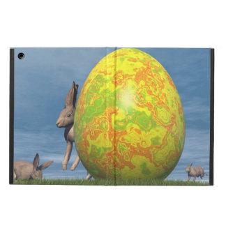 Funda Para iPad Air Huevo y liebres de Pascua - 3D rinden