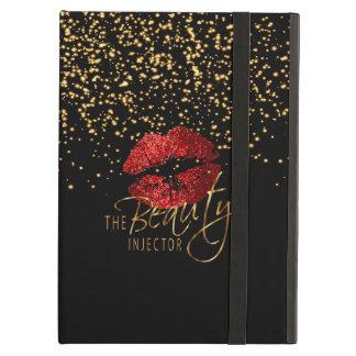 Funda Para iPad Air Inyector de la belleza con confeti del oro y