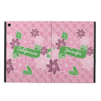 Funda Para iPad Air Kimono rosado de Japón de la bandera del verde del