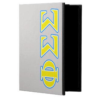 Funda Para iPad Air Letras azules y amarillas de la sigma de la sigma