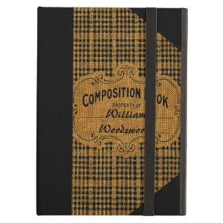Funda Para iPad Air Libro rústico de la composición del vintage