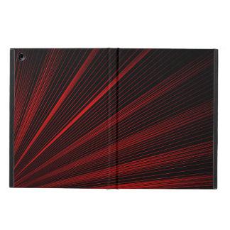 Funda Para iPad Air Líneas geométricas rojas arte abstracto, caja del