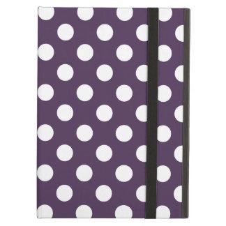 Funda Para iPad Air Lunares blancos en púrpura del ciruelo
