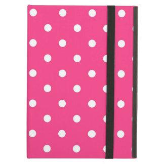 Funda Para iPad Air Lunares rosados y blancos de Fuschia, caja del