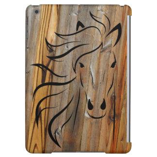 Funda Para iPad Air Madera rústica y caballos salvajes