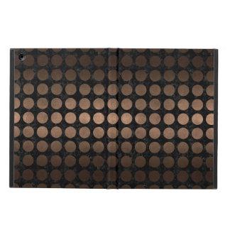 FUNDA PARA iPad AIR METAL NEGRO DEL MÁRMOL CIRCLES1 Y DEL BRONCE