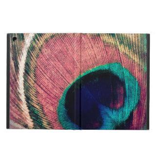 Funda Para iPad Air Moda rosada de la pluma del pavo real